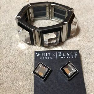 White House Black Market bracelet & ear rings set
